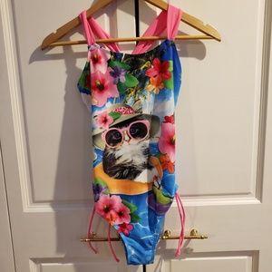 Justice brand 1 piece swimsuit
